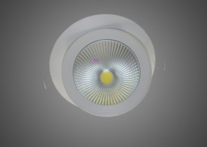 COB LED shoplight look from front