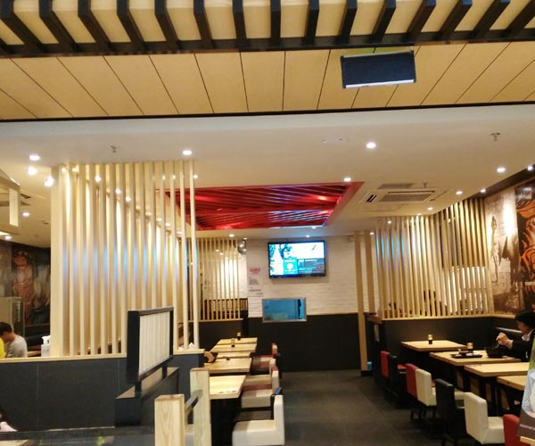 led downlight applied in restaurant