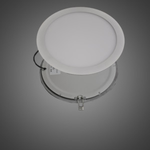 seeing the round led panel from front and back side