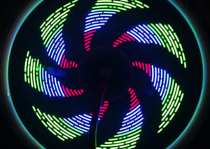 lighting effect for the wheel